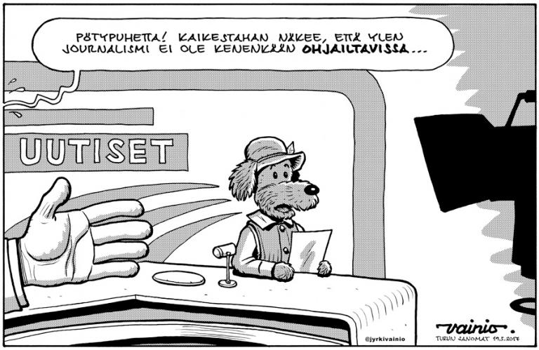 Karikatyyripiirtäjä Jyrki Vainio